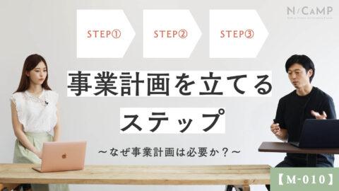 【M-010】事業計画を立てるステップ〜なぜ事業計画は必要か?〜