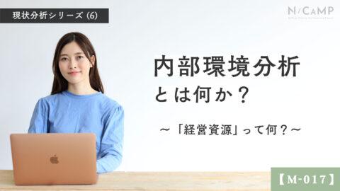【M-017】現状分析006_内部環境分析とは何か?経営資源って何?